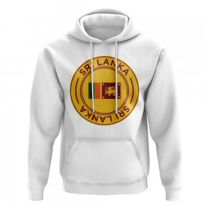 Sri Lanka Football Badge Hoodie (White)