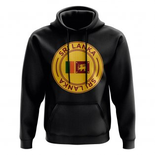 Sri Lanka Football Badge Hoodie (Black)