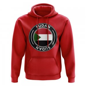 Sudan Football Badge Hoodie (Red)