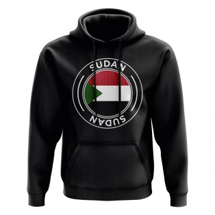 Sudan Football Badge Hoodie (Black)