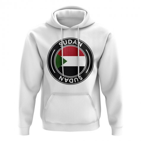 Sudan Football Badge Hoodie (White)