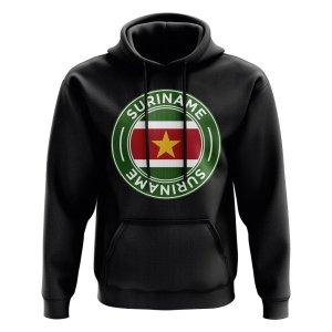 Suriname Football Badge Hoodie (Black)