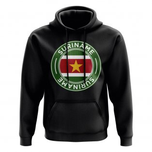 Suriname Football Badge Hoodie (Black)
