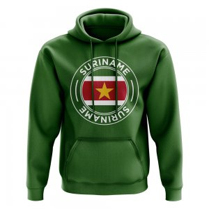 Suriname Football Badge Hoodie (Green)