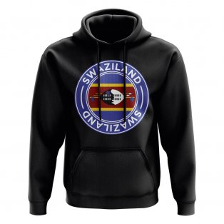 Swaziland Football Badge Hoodie (Black)