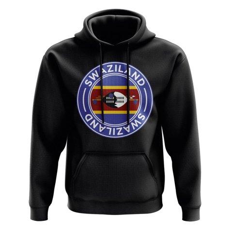 Swaziland Football Badge Hoodie (Black)