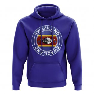 Swaziland Football Badge Hoodie (Royal)