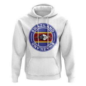 Swaziland Football Badge Hoodie (White)