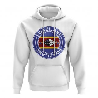 Swaziland Football Badge Hoodie (White)