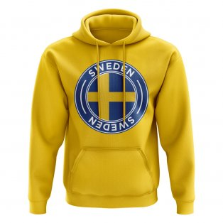 Sweden Football Badge Hoodie (Yellow)