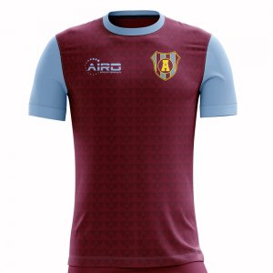 2020-2021 Villa Home Concept Football Shirt - Womens