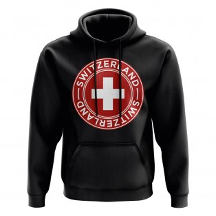 Switzerland Football Badge Hoodie (Black)