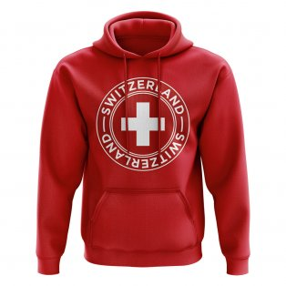 Switzerland Football Badge Hoodie (Red)
