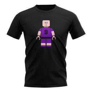 Gabriel Batistuta Fiorentina Brick Footballer T-Shirt (Black)