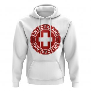 Switzerland Football Badge Hoodie (White)