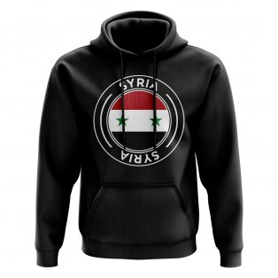 Syria Football Badge Hoodie (Black)
