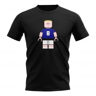 Paul Gascoigne Rangers Brick Footballer T-Shirt (Black)