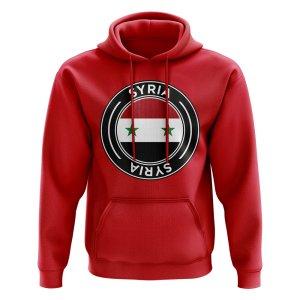 Syria Football Badge Hoodie (Red)