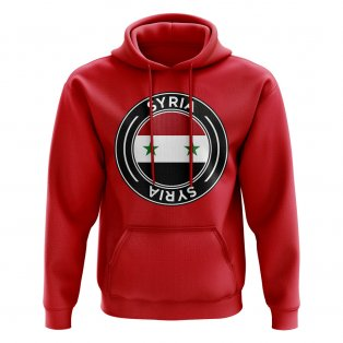 Syria Football Badge Hoodie (Red)