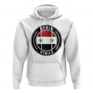 Syria Football Badge Hoodie (White)