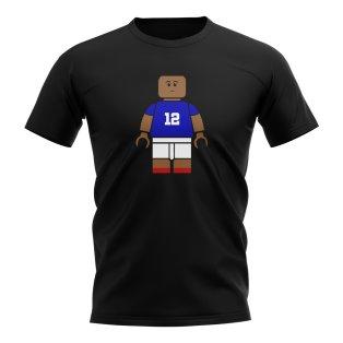 Kylian Mbappe France Brick Footballer T-Shirt (Black)