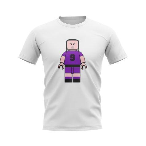 Gabriel Batistuta Fiorentina Brick Footballer T-Shirt (White)