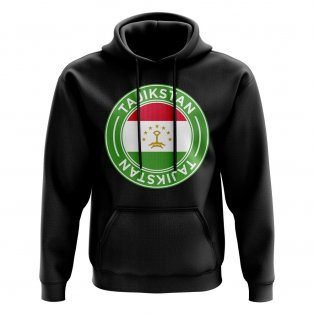 Tajikstan Football Badge Hoodie (Black)