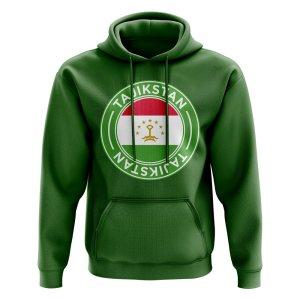 Tajikstan Football Badge Hoodie (Green)