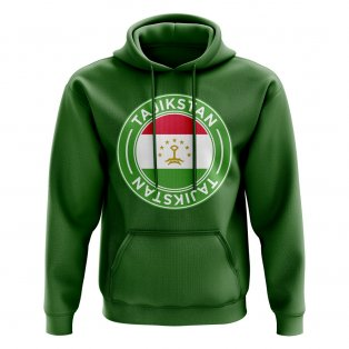 Tajikstan Football Badge Hoodie (Green)