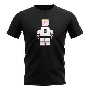 Alan Shearer Newcastle Brick Footballer T-Shirt (Black)