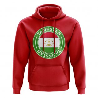 Tajikstan Football Badge Hoodie (Red)