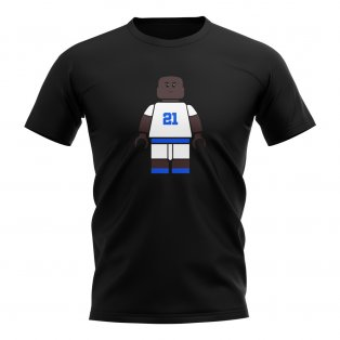 Tony Yeboah Leeds Brick Footballer T-Shirt (Black)