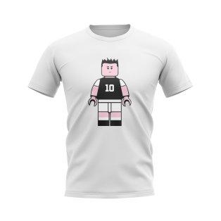 Alessandro Del Piero Juventus Brick Footballer T-Shirt (White)
