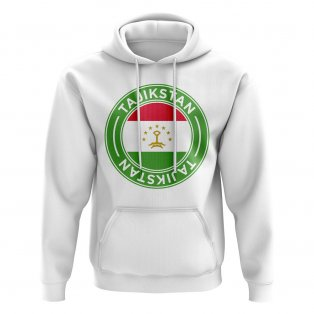 Tajikstan Football Badge Hoodie (White)