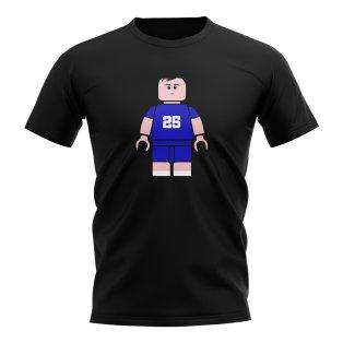 Gianfranco Zola Chelsea Brick Footballer T-Shirt (Black)
