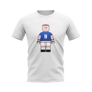 Duncan Ferguson Everton Brick Footballer T-Shirt (White)