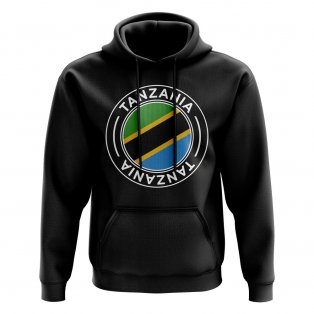 Tanzania Football Badge Hoodie (Black)