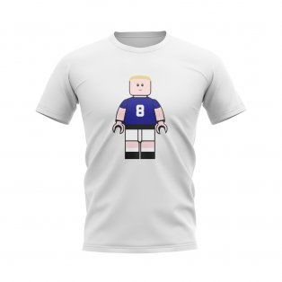 Paul Gascoigne Rangers Brick Footballer T-Shirt (White)