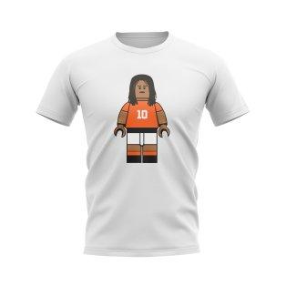Ruud Gullit Holland Brick Footballer T-Shirt (White)