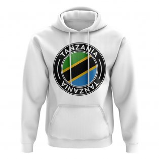 Tanzania Football Badge Hoodie (White)