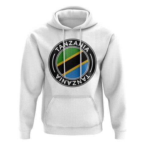 Tanzania Football Badge Hoodie (White)