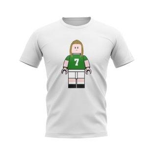 Henrik Larsson Celtic Brick Footballer T-Shirt (White)