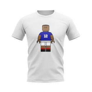 Kylian Mbappe France Brick Footballer T-Shirt (White)