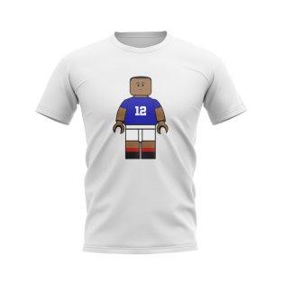 Kylian Mbappe France Brick Footballer T-Shirt (White)