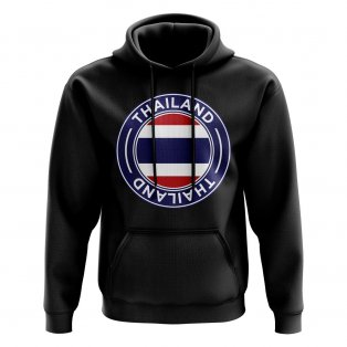Thailand Football Badge Hoodie (Black)