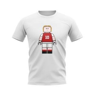 Luka Modric Croatia Brick Footballer T-Shirt (White)