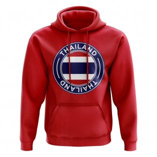 Thailand Football Badge Hoodie (Red)
