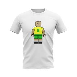 Ronaldo Brazil Brick Footballer T-Shirt (White)