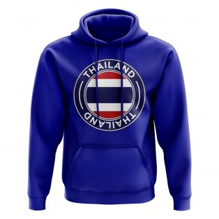 Thailand Football Badge Hoodie (Royal)