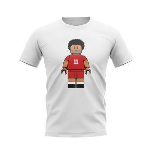 Mo Salah Liverpool Brick Footballer T-Shirt (White)